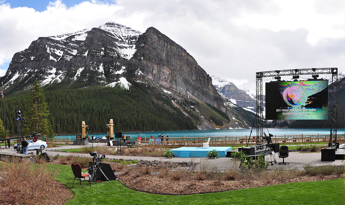 ... Communities Of Banff, Kananaskis, And Lake Louise. We Specu0027d And  Provided Multi Screen Projection Switched Through Our Christie Digital  Spider Matrix ...
